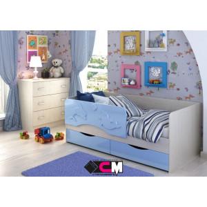 """Детская кровать """"Алиса"""" 1,4 м КР-811 (голубой)"""