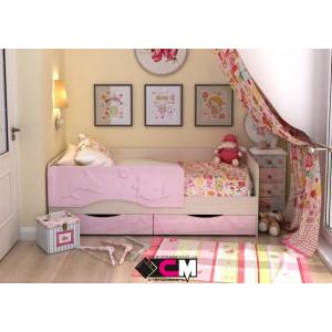 """Детская кровать """"Алиса"""" 1,4 м КР-811 (розовый)"""