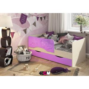 """Детская кровать """"Алиса"""" 1,4 м КР-811 (сиреневый)"""