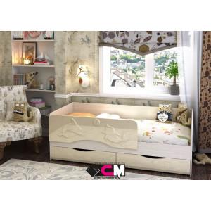 """Детская кровать """"Алиса"""" 1,4 м КР-811 (ваниль)"""