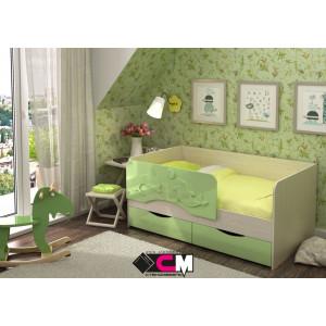 """Детская кровать """"Алиса"""" 1,4 м КР-811 (зеленый)"""