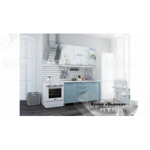 """Кухня """"Бьянка"""" 1,5 м (голубые блестки)"""