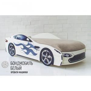 """Детская Кровать - Машина """"Бондмобиль белый"""""""