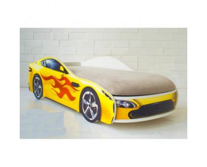 """Детская Кровать - Машина """"Бондмобиль желтый"""""""