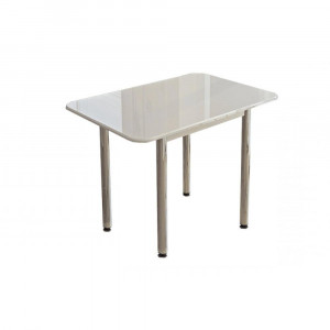 Стол обеденный (белый глянец)
