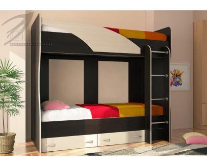 """Детская кровать """"Мийа"""" 2-х ярусная венге"""