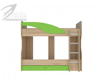 """Детская кровать """"Мийа"""" 2-х ярусная зеленый"""