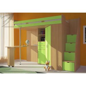 """Детская кровать-чердак """"Мийа"""" зеленый"""