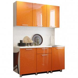 "Кухня ""Блестки Оранж"""
