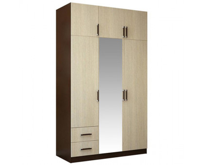 Шкаф 3-х створчатый с ящиками (Венге/Лоредо)
